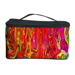 Background Texture Colorful Cosmetic Storage Case by Nexatart