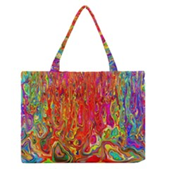 Background Texture Colorful Medium Zipper Tote Bag by Nexatart