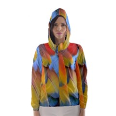 Spring Parrot Parrot Feathers Ara Hooded Wind Breaker (women)
