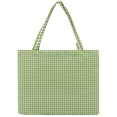 Gingham Check Plaid Fabric Pattern Mini Tote Bag by Nexatart