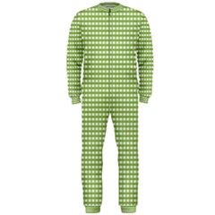 Gingham Check Plaid Fabric Pattern Onepiece Jumpsuit (men)