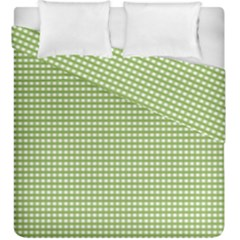Gingham Check Plaid Fabric Pattern Duvet Cover Double Side (king Size)