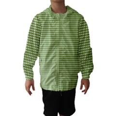 Gingham Check Plaid Fabric Pattern Hooded Wind Breaker (kids)
