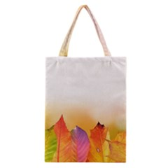 Autumn Leaves Colorful Fall Foliage Classic Tote Bag by Nexatart