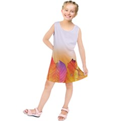 Autumn Leaves Colorful Fall Foliage Kids  Tunic Dress by Nexatart