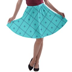 Pattern Background Texture A Line Skater Skirt