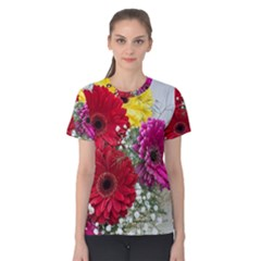 Flowers Gerbera Floral Spring Women s Cotton Tee by Nexatart