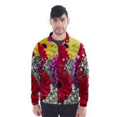Flowers Gerbera Floral Spring Wind Breaker (men)