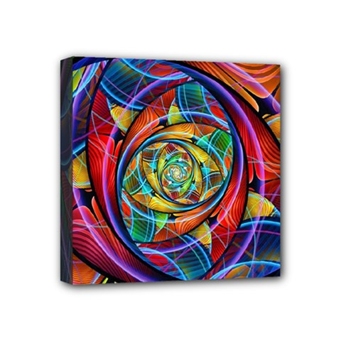 Eye Of The Rainbow Mini Canvas 4  X 4