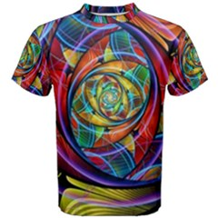 Eye Of The Rainbow Men s Cotton Tee by WolfepawFractals