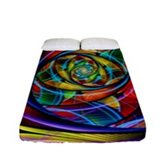 Eye Of The Rainbow Fitted Sheet (full/ Double Size)