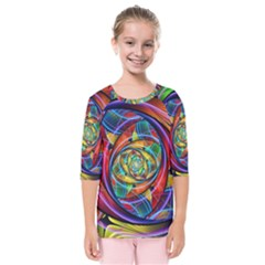 Eye Of The Rainbow Kids  Quarter Sleeve Raglan Tee