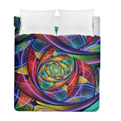 Eye Of The Rainbow Duvet Cover Double Side (full/ Double Size)