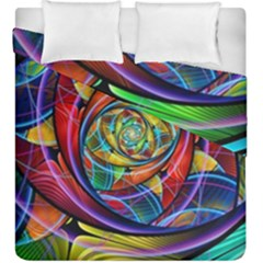 Eye Of The Rainbow Duvet Cover Double Side (king Size)