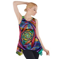 Eye Of The Rainbow Side Drop Tank Tunic
