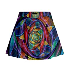 Eye Of The Rainbow Mini Flare Skirt