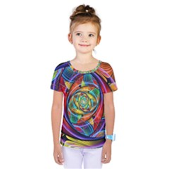 Eye Of The Rainbow Kids  One Piece Tee