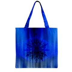 Background Christmas Star Grocery Tote Bag by Nexatart