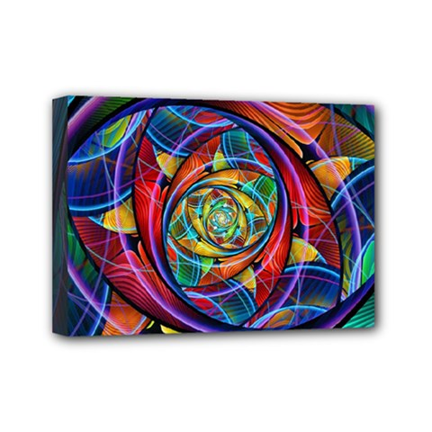 Eye Of The Rainbow Mini Canvas 7  X 5  by WolfepawFractals