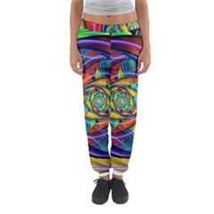 Eye Of The Rainbow Women s Jogger Sweatpants by WolfepawFractals