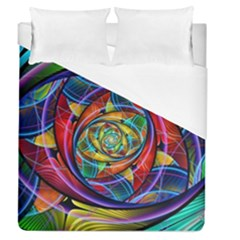 Eye Of The Rainbow Duvet Cover (queen Size) by WolfepawFractals