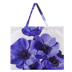 Poppy Blossom Bloom Summer Zipper Large Tote Bag