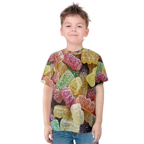 Jelly Beans Candy Sour Sweet Kids  Cotton Tee by Nexatart