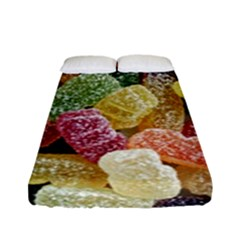 Jelly Beans Candy Sour Sweet Fitted Sheet (full/ Double Size) by Nexatart