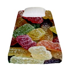 Jelly Beans Candy Sour Sweet Fitted Sheet (single Size) by Nexatart