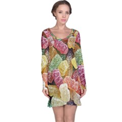 Jelly Beans Candy Sour Sweet Long Sleeve Nightdress by Nexatart