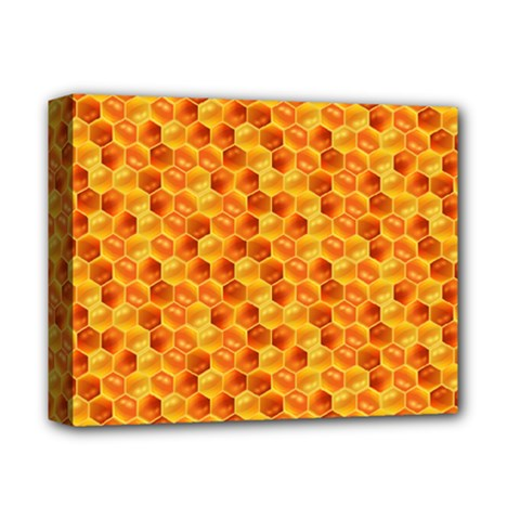 Honeycomb Pattern Honey Background Deluxe Canvas 14  X 11  by Nexatart