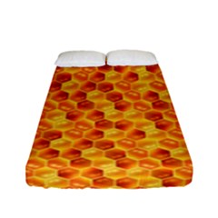 Honeycomb Pattern Honey Background Fitted Sheet (full/ Double Size) by Nexatart