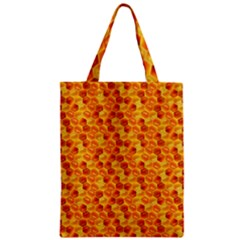 Honeycomb Pattern Honey Background Zipper Classic Tote Bag by Nexatart
