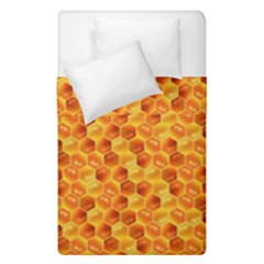 Honeycomb Pattern Honey Background Duvet Cover Double Side (single Size)