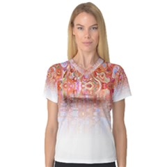 Effect Isolated Graphic Women s V Neck Sport Mesh Tee by Nexatart