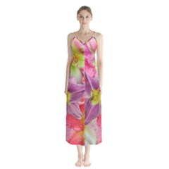 Wonderful Floral 22a Button Up Chiffon Maxi Dress by MoreColorsinLife