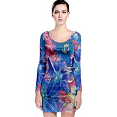 Wonderful Floral 22c Long Sleeve Bodycon Dress by MoreColorsinLife
