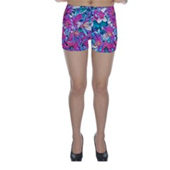 Wonderful Floral 25a Skinny Shorts by MoreColorsinLife