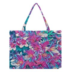 Wonderful Floral 25a Medium Tote Bag by MoreColorsinLife