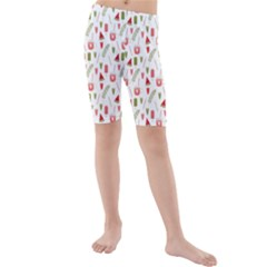 Watermelon Fruit Paterns Kids  Mid Length Swim Shorts