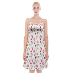 Watermelon Fruit Paterns Spaghetti Strap Velvet Dress by TastefulDesigns