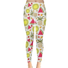 Summer Fruits Pattern Leggings  by TastefulDesigns