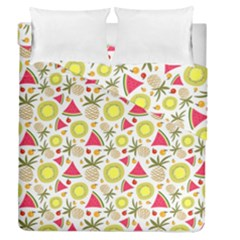 Summer Fruits Pattern Duvet Cover Double Side (queen Size) by TastefulDesigns