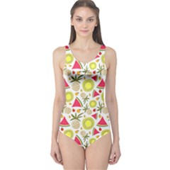 Summer Fruits Pattern One Piece Swimsuit by TastefulDesigns