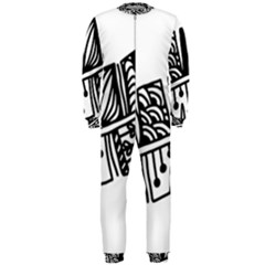 Feather Zentangle Onepiece Jumpsuit (men)  by CraftyLittleNodes
