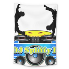 Dj Logo Transparent Large Tapestry by Acid909