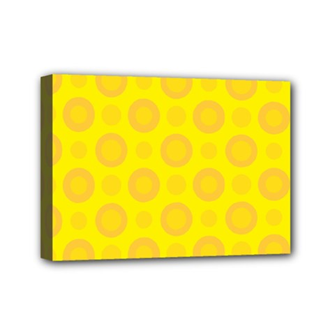 Cheese Background Mini Canvas 7  X 5  by berwies