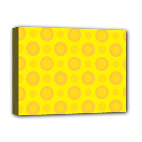 Cheese Background Deluxe Canvas 16  X 12   by berwies