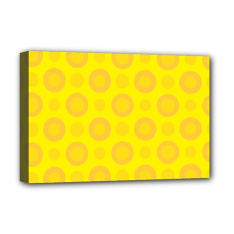 Cheese Background Deluxe Canvas 18  X 12   by berwies