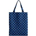 SCALES1 BLACK MARBLE & BLUE COLORED PENCIL (R) Zipper Classic Tote Bag View1